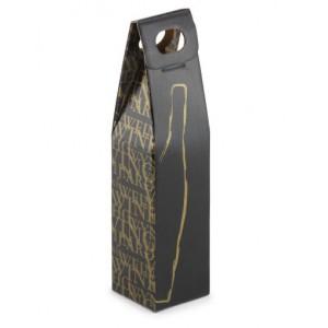 Flesverpakking Classic 1 fles zwart met venster