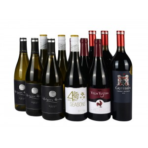 Mix case 6 red & 6 white wines